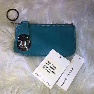 NWT Marc Jacobs Pale Blue Buckle Key Pouch